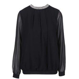 Bluză neagră cu spate transparent VILA Gilio
