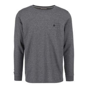 Tricou bărbătesc gri cu buzunar pe piept Selected Dot