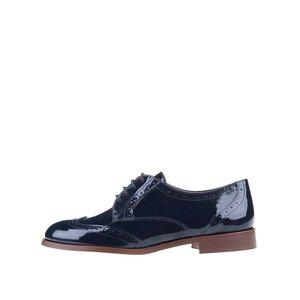 Pantofi Brogue bleumarin din piele lucioasă OJJU