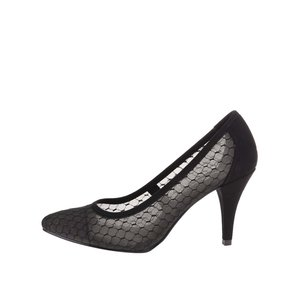 Pantofi escarpen cu model Tamaris - negru