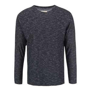 Selected Faked Black Melange Long Sleeved T-shirt
