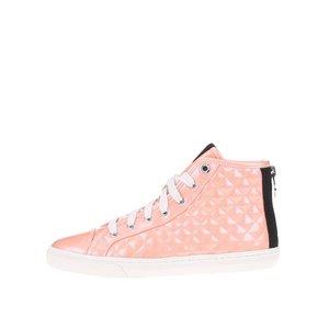 Pantofi sport de damă tip gheată de la GEOX New Club - culoarea somonului