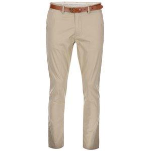 Pantaloni slim cu curea Selected Yard - bej