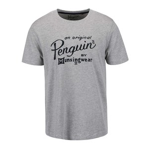 Tricou gri cu imprimeu Original Penguin Logo