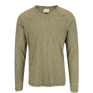 Tricou bărbătesc verde cu mânecă lungă Selected Tobi