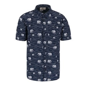 Bellfield Brava Dark Blue Patterned Shirt