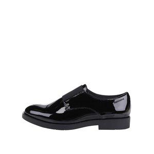 Pantofi derby Vagabond Lejla din piele naturală lăcuită, negri