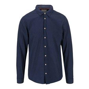 Tricou Blend de culoare navy cu model slim fit