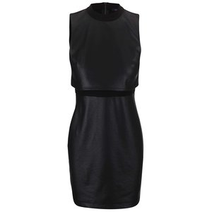 Rochie French Connection Cracked din piele artificială