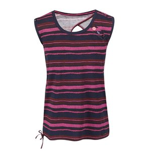Tricou cu dungi Ragwear Mike albastru-roz