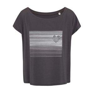 Tricou ZOOT Original Heart Line negru de damă