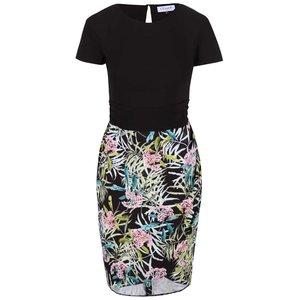 Rochie Closet neagră cu print floral