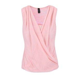 Bluză cu dantelă Madonna roz