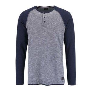 Bluză !Solid Bauer albastru cu gri