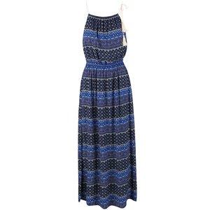 Rochie maxi ONLY Nova albastră cu pattern
