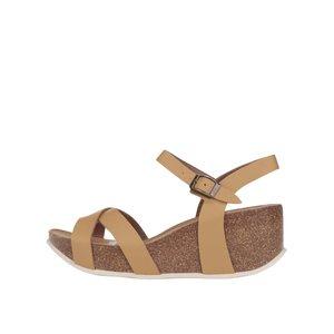Sandale cu platformă OJJU maro