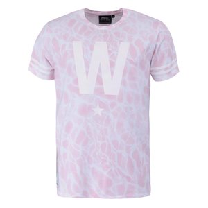 Tricou roz pal cu imprimeu alb WeSC W Star