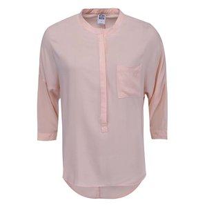 Bluză cu mânecă trei sferturi, culoarea caisei, model Easy de la Vero Moda