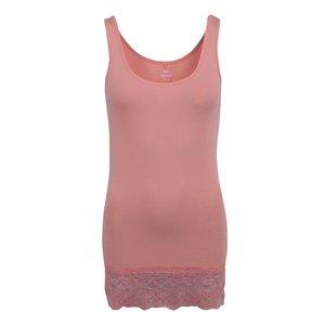 Maiou roz coral cu dantelă ONLY