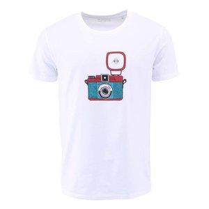 Tricou ZOOT Original alb bărbătesc cu prin cameră foto