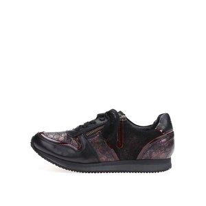 Pantofi sport Lana din piele neagră cu detalii de roșii de la Bugatti