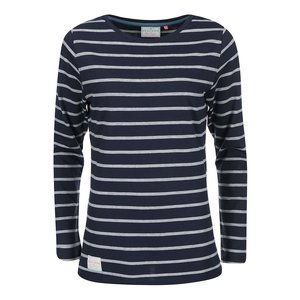 Bluză în dungi albastru cu gri BRAKEBURN Yarn Dyed