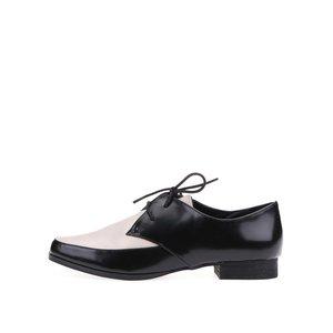 Pantofi oxford ALDO FLYTA negru cu crem