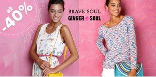 Výprodej GINGER+SOUL a Brave Soul: až -40 %