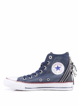 Converse - Modré dámské tenisky s ozdobnými zipy Chuck Taylor All ...