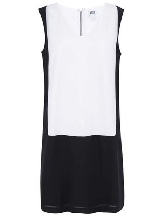 Vero moda bílo černé geometrické šaty caroline 1 5bb0eba384