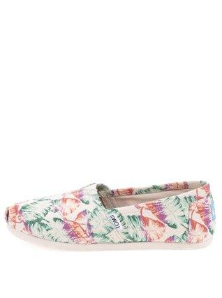 Toms - Krémové dámské loafers s barevnými listy Classic - 1