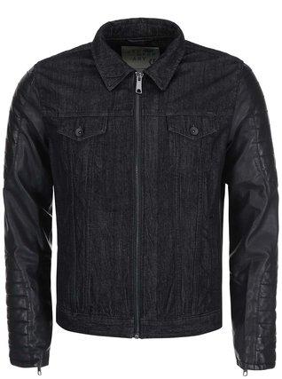Solid - Černá džínová bunda s koženkovými rukávy Rexford - 1