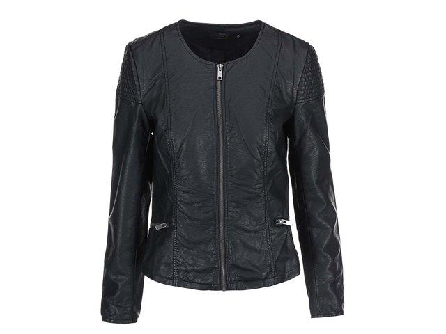 Černá koženková bunda ONLY Sally