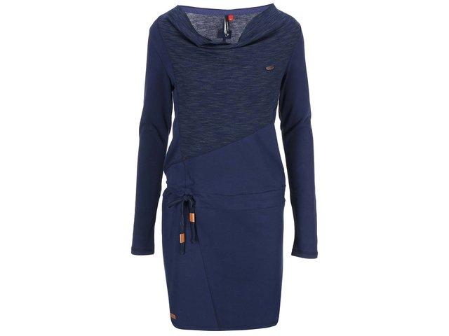 Tmavě modré šaty s dlouhým rukávem Ragwear Chance