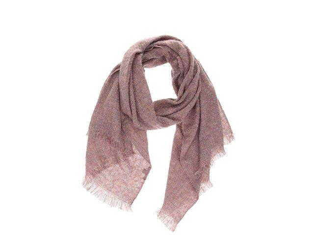 Růžový barevně protkaný šátek INVUU London c3783eaacc