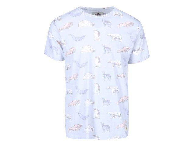 Světle modré pánské triko s potiskem zvířat Bellfield Arctic