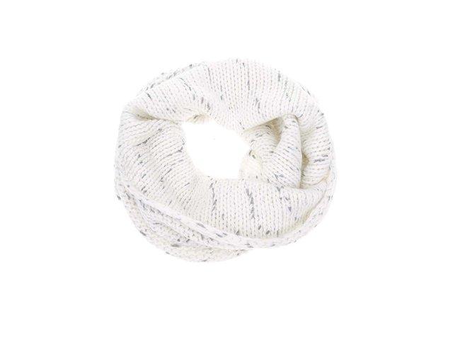 Bílá dutá šála s šedým žíháním Vero Moda Guro