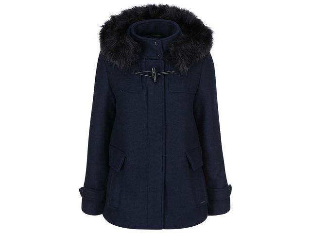 Tmavě modrý kabát s kapucí Vero Moda Camille