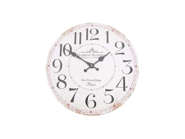 Bílé dřevěné hodiny Dakls Clement Audierne