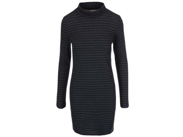 Černo-šedé pruhované šaty Vero Moda Hyben