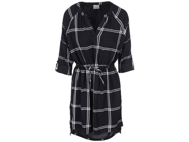 Černé šaty s 3/4 rukávem Vero Moda Abbi