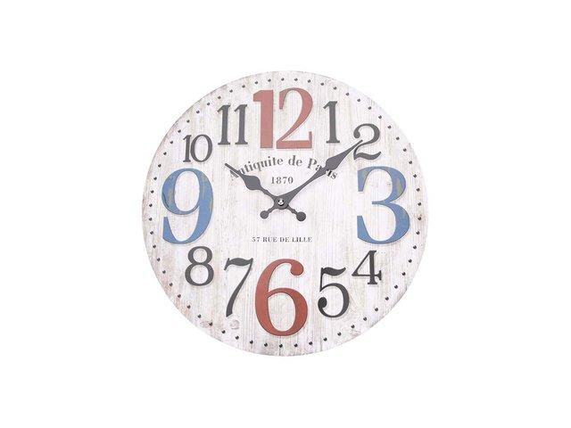 Béžové dřevěné hodiny Dakls Antiquite de Paris