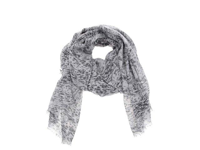 Světle šedý šátek s černým vzorem Vero Moda Seal