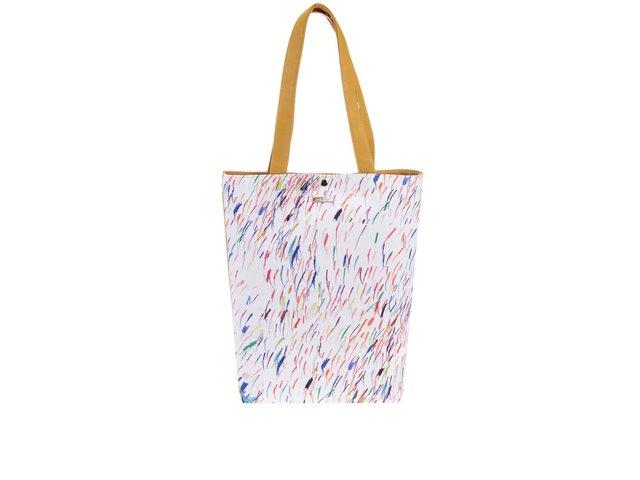 Hořčicový vzorovaný shopper Dara bags Basic Shopper