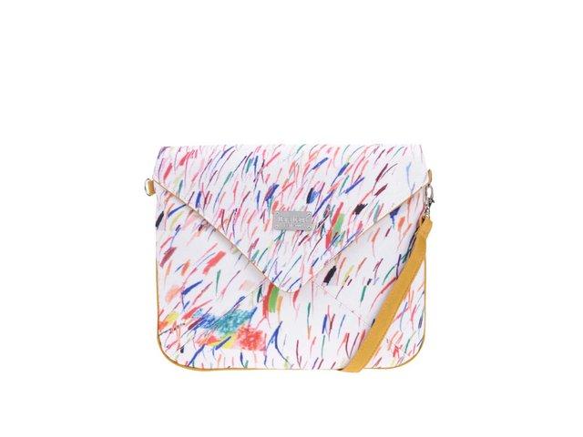 Hořčicové vzorované psaníčko Dara bags Miss Envelope