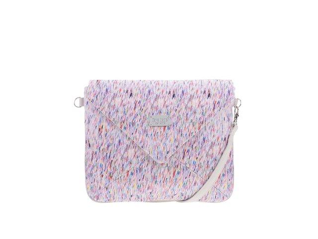 5cc2eaaf66 Béžovošedé vzorované psaníčko Dara bags Miss Envelope