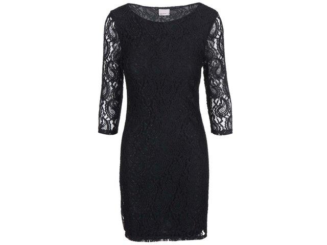 Černé šaty s krajkou Vero Moda Julie