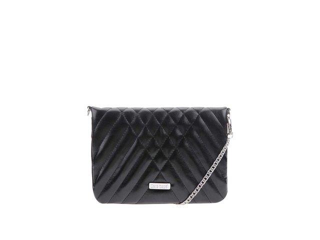 Černá lesklá malá prošívaná kabelka Dara bags Coctail Chic