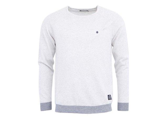 Bílý svetr se šedým lemem Jack & Jones Barton