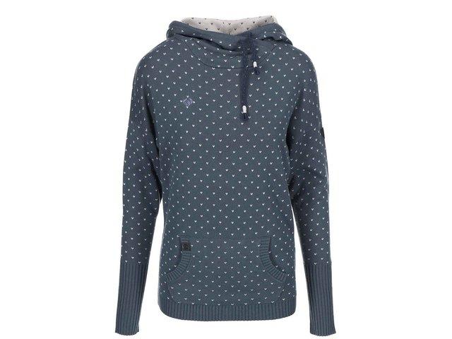 Šedomodrý dámský svetr s kapucí Ragwear Samui